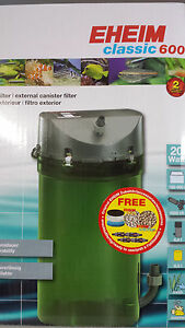 New-Eheim-External-2217-600-with-Biological-media-taps-and-hoses-2-yr-warranty