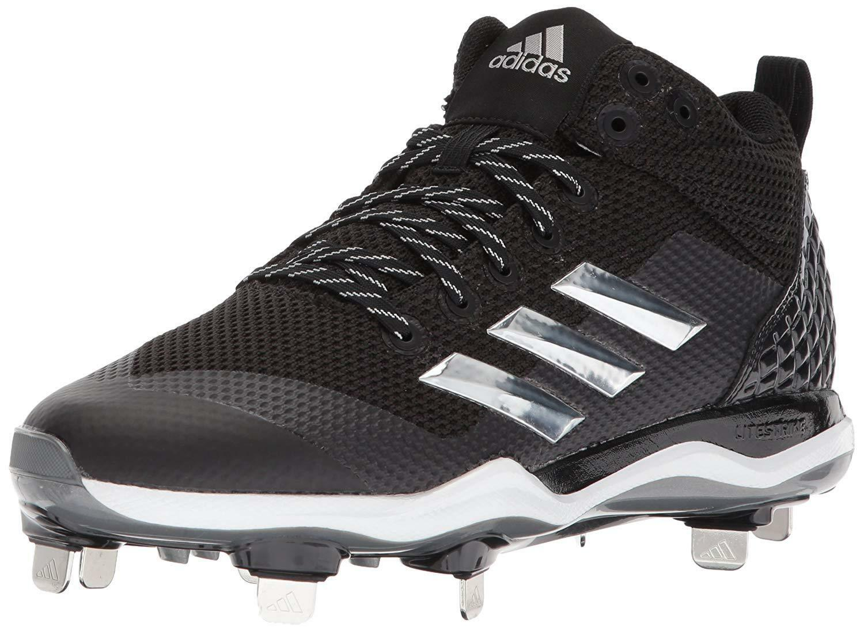 Adidas Men's Freak X Carbon Mid Baseball shoes Black Silver White 15 M