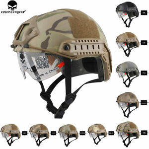 Emerson-FAST-Helmet-With-Protective-Goggles-MH-Tactical-Combat-Airsoft-Helmets
