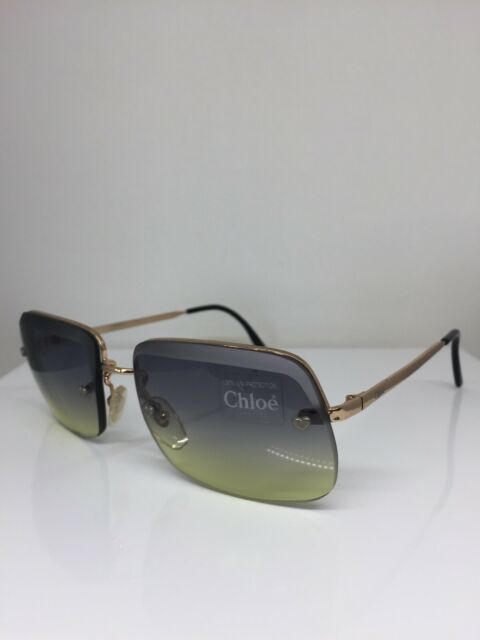 43ec1d5fe6e50 Vintage Chloe 48 Sunglasses Valentines Day Hearts C. 252 Brown 59mm Italy