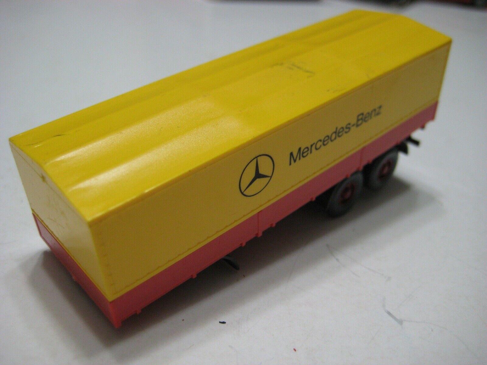 forma única Wiking (Alemania) amarillo rojo rojo rojo Mercedes-Benz 1626 Sattelzug Remolque 1 87 Plástico  la red entera más baja