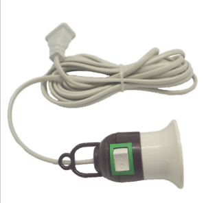 Home-E27-Screw-Light-Lamp-Bulb-Holder-Cap-Socket-Switch-Power-Cable-Cords