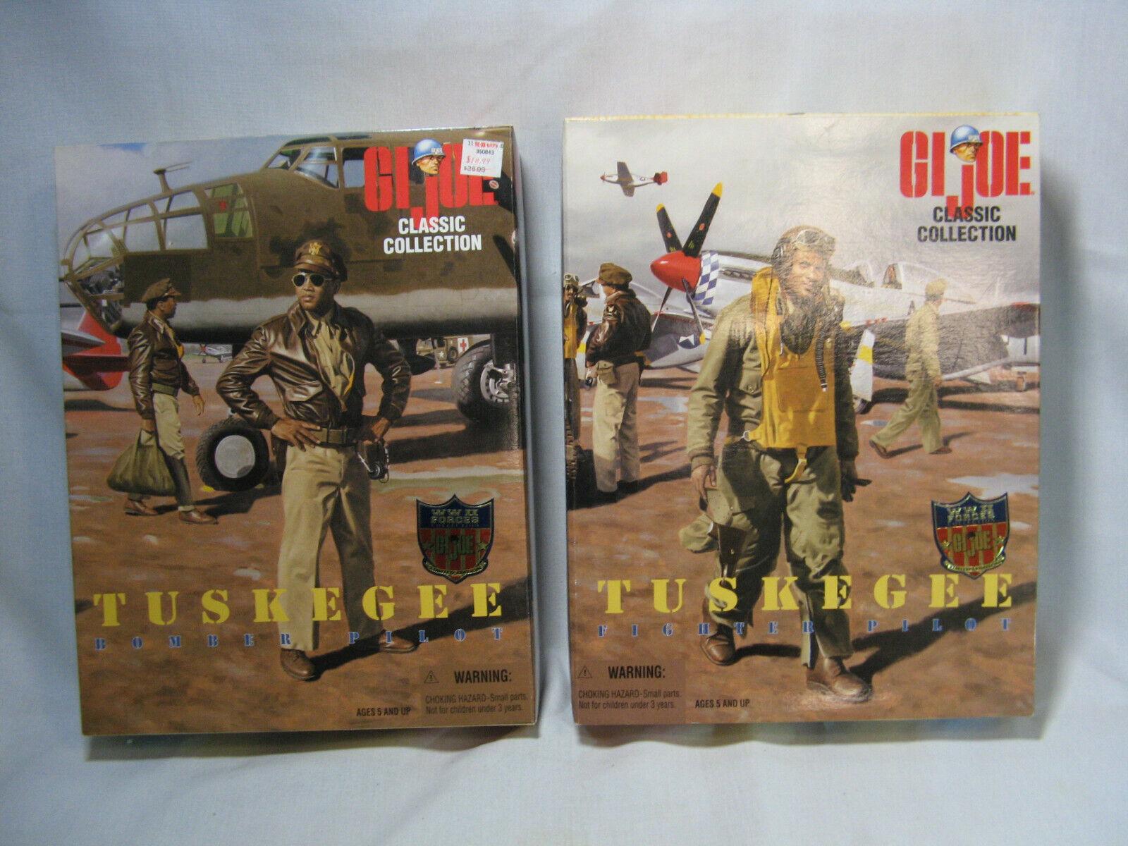 2 Kenner Hasbro GI Joe Classic Tuskegee Bomber and Fighter Pilot NIB