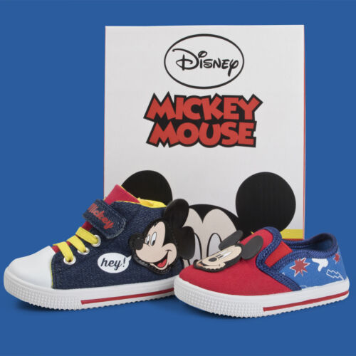 Disney Mickey Mouse Canvas Pumps Toddlers High Tops Ankle Tops Infants Shoes
