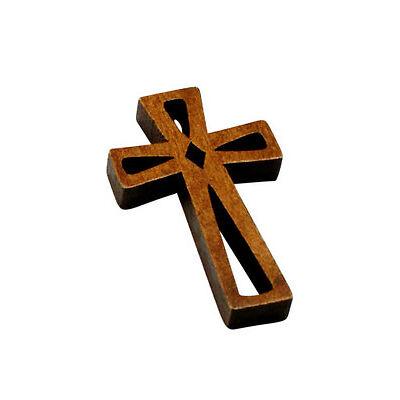 Verschieden Kreuzanhänger Holzdesign 2-3,3cm breit Kommunion/ Baby/ Taufe/Geburt