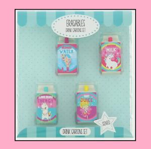 Official Gift Idea Rare Collectable Drink Carton Eraser Rubber Gift Set