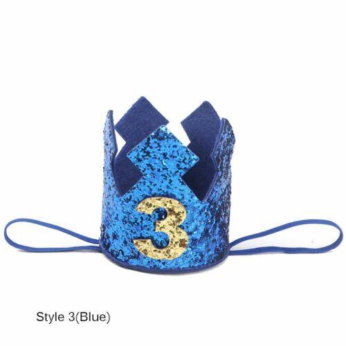 Kids Boys Floral Headwear Party Headdress Baby Birthday Hat Crown Hair Band