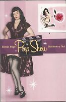 Dark Horse Deluxe Bettie Page Pin-up Girl Stationery Set bettie Page Peep Show