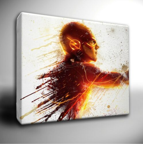 DC Characters paint splatter Canvas Art Picture Prints Marvel Avengers LARGE
