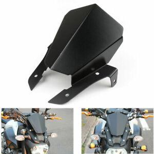 Aluminum Windshield WindScreen Upper Cover Fits Yamaha MT07 FZ07 2014-2016 Black