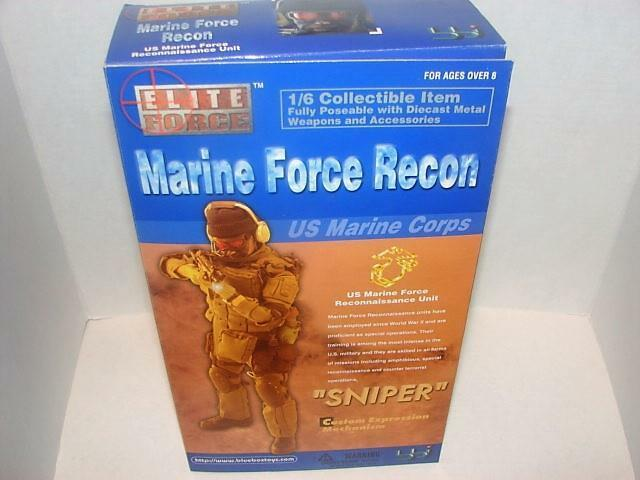 Elite ForceMarine Force Recon 1 6 Scale 12  Action FigureSniperUS Marine Corp