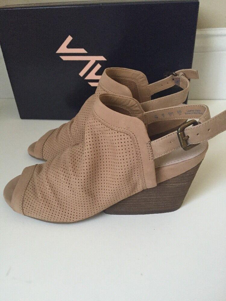 Naya Damenschuhe Luxor Wedge Slingback Open Toe Sandale Tan Größe 7 M