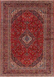 Traditional-VINTAGE-Handmade-Floral-Ardakan-Oriental-Area-Rug-Wool-Carpet-8-039-x11-039