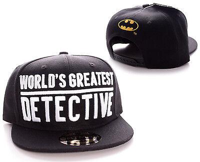 OFFICIA DC COMICS BATMAN: WORLD'S GREATEST DETECTIVE SNAPBACK CAP HAT (NEW)