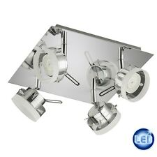 plafonnier LED chrome 4x5W plafonnier LED Système/rail pour plafond NEUF