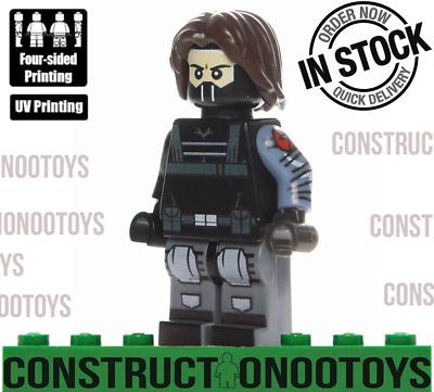 winter soldier minifigure lego Custom PAD UV Printed  BRICK  minifigure