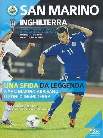 2013 SAN MARINO v ENGLAND WORLD CUP QUALIFIER