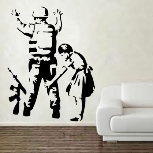 BANKSY Soldado Frisk De Vinilo De Etiquetas De Pared Arte Graffiti Street