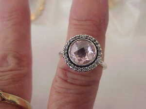 Pandora Brillant Héritage Rose Cz Sterling Silver Ring Sz 7-afficher Le Titre D'origine