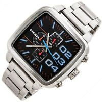 Diesel Men's Square Double Down Chronograph Watch - 2 Years Warranty