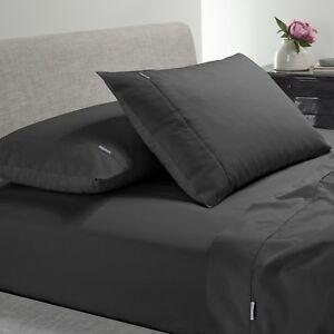 Bianca-Heston-300TC-100-Cotton-Percale-Sheet-Set-Charcoal