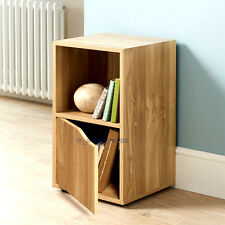 Bon Item 1 Turin 2 Sections With 1 Door And 1 Open Cube Shelves Storage Unit    Oak Finish  Turin 2 Sections With 1 Door And 1 Open Cube Shelves Storage  Unit ...