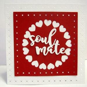 Christmas Letter Circle Metal Cutting Dies Scrapbooking Paper Cards Craft new