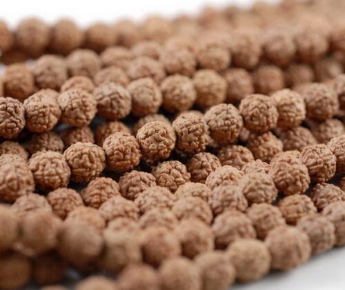 6mm Natural Rudraksha Bodhi Seed Mala Meditation 108 Beads Brown Round 23