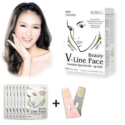 Rubelli Beauty V-Line Face Mask Lift Up Belt + 6 Sheet Pack New Version Lift Up