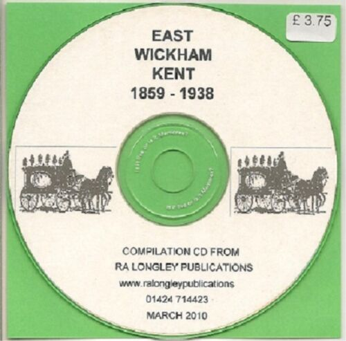 Kelly/'s County Directory Kent A East Wickham Z 1859-1938