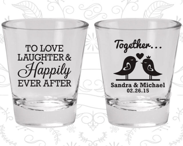 Wedding Shot Glasses Personalized Shot Glass 80 Happily Ever After