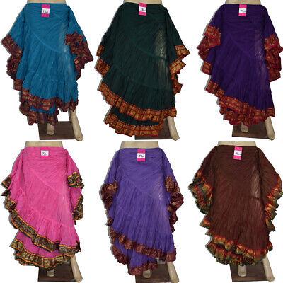 12 Yard Skirt, Tribal Fusion, Belly Dance Boho Gypsy Hippie Maxi Skirt