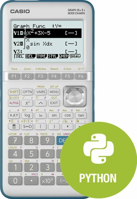 Casio Graph 35+E II calculatrice graphique (mode examen et programmation Python)
