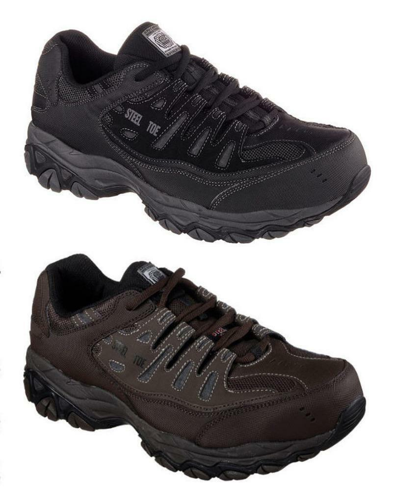 SKECHERS Relaxed Fit Steel Toe Work shoes, Med & Wide  ASTM F2412-2011 I 75 C 75