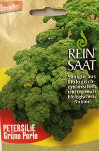 Petersilie grüne Perle Saatgut - Bio - Demeter - aus biologischem Anbau  bio