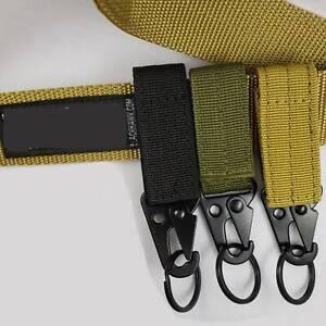 Military-Nylon-Key-Hook-Webbing-Molle-Buckle-Hanging-Belt-Carabiner-Clip-new