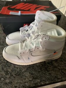 the best attitude 1d429 f477a Details about Air Jordan 1 x Off-White NRG White Size 9 Never Worn