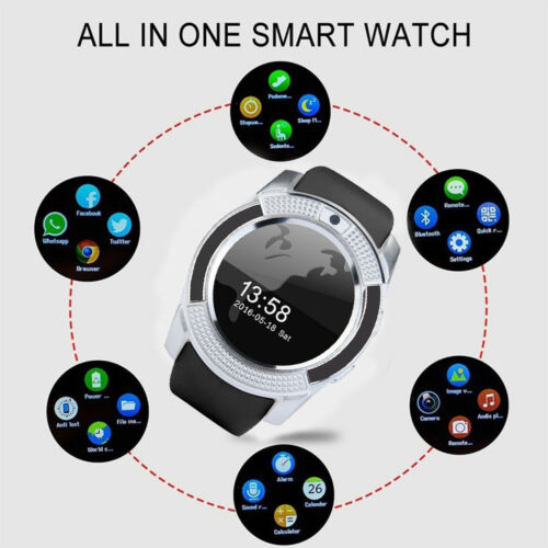 BT Smartwatch Fitness Tracker Sport Armband SIM Call Uhr Android iOS Handy Hot