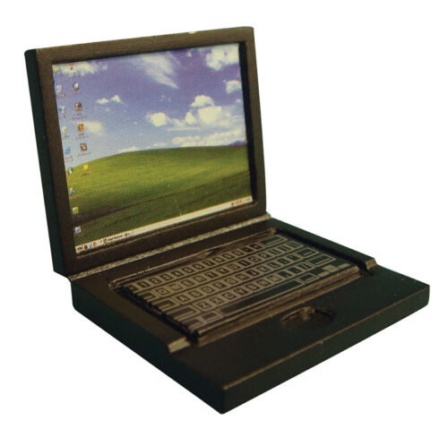 1:12 scale dolls house miniature laptops 2 to choose from.