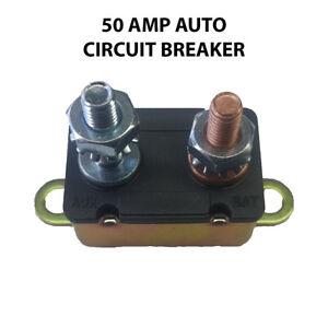 Auto Reset Circuit Breaker 50 AMP 12V Fuse Dual Battery Car Caravan Boat H//DUTY