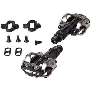 cd63a62f617 Shimano PD-M520 SPD Mountain Bike Pedals Black Clipless With SH51 Cleats