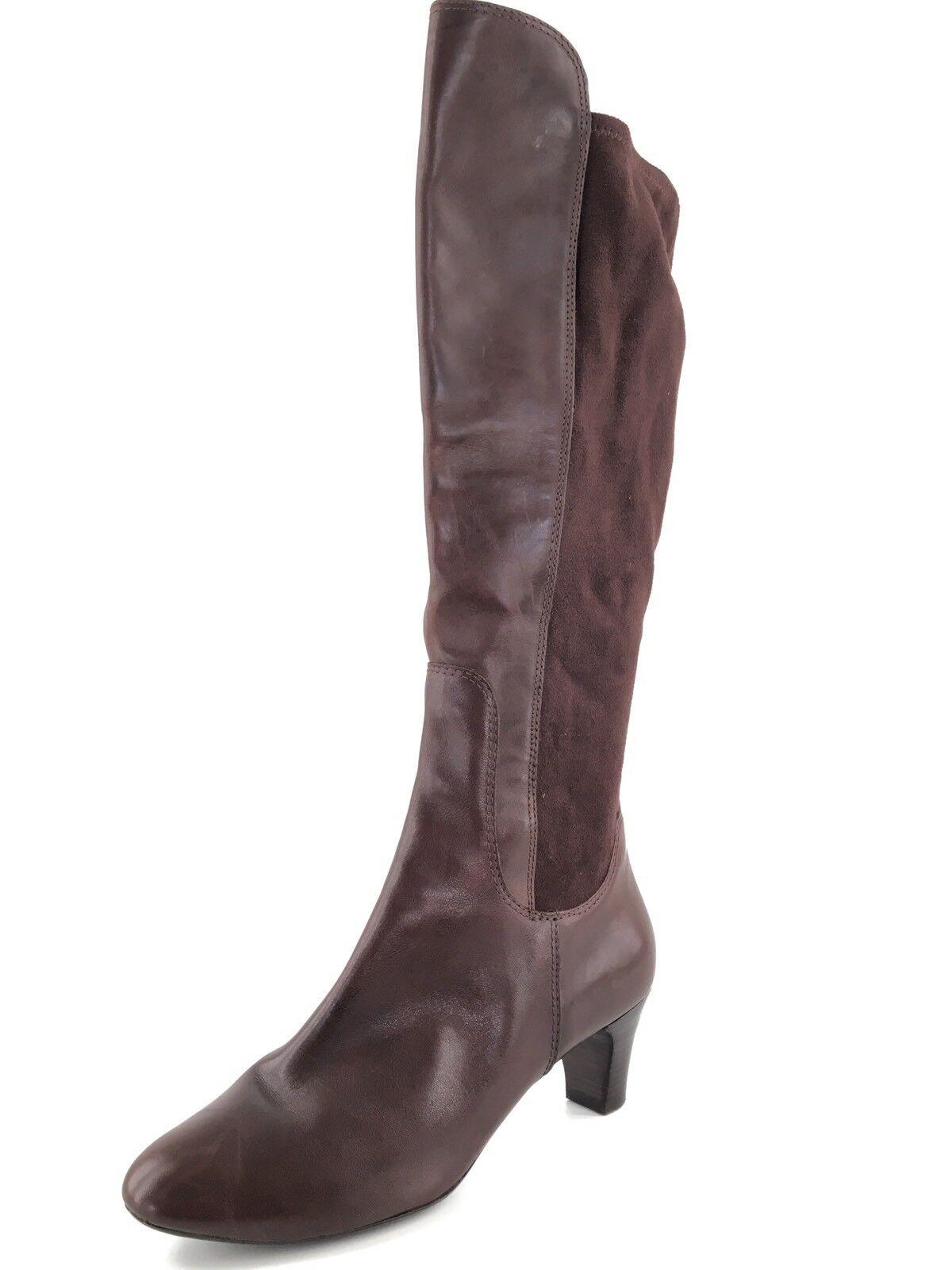 Cole Haan Air Janet Knee High Braun Suede Leder Stiefel Damenschuhe Größe 10 M 398