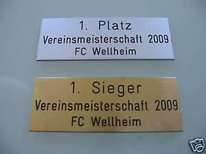 1-St-Schild-Schilder-Pokale-Pokal-Gravurschild