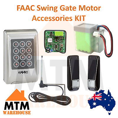 Faac Swing Gate Motor Accessories Kit Battery Photocell