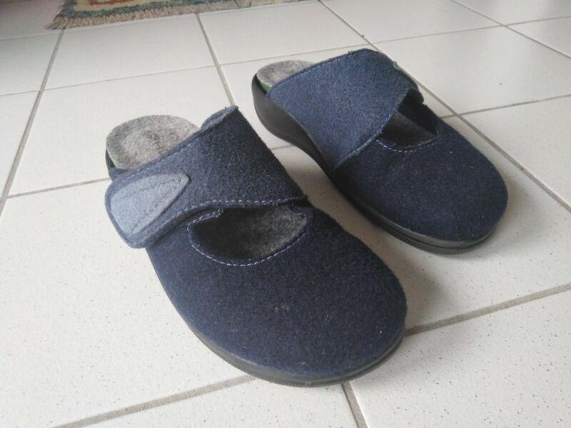 Selbstlos Hausschuhe Pantoffeln Damen Gr.37g Rohde Wollfilz,f.maßeinlagen,klettv. Wie Neu