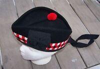 Scottish Glengarry Wool Diced Hat Cap Large