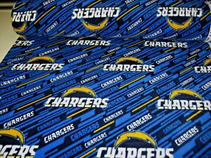 """NFL Los Angeles Chargers Cotton Fabric 58/"""" 60/"""""""