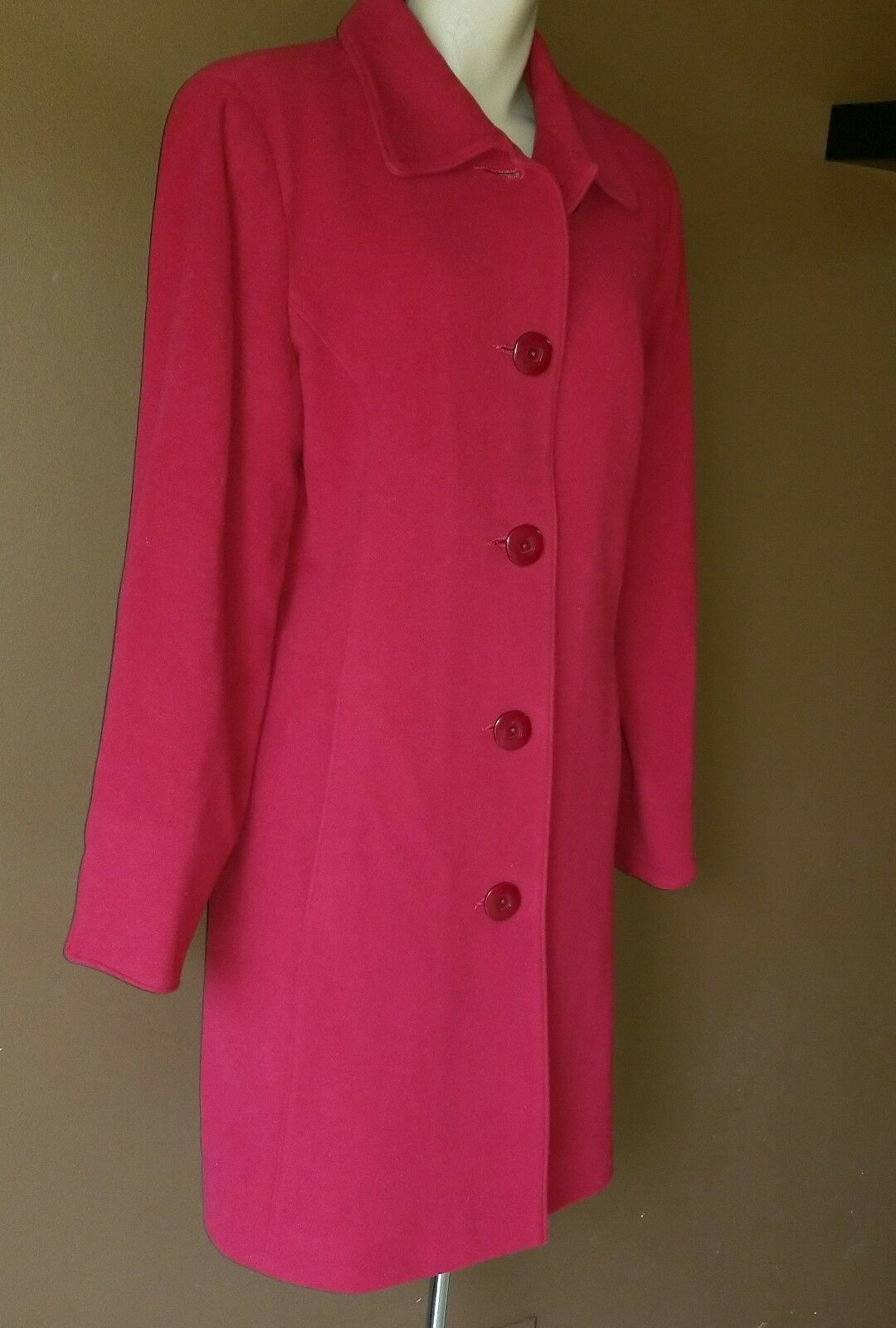 Kristen Kristen Kristen Blake wool blend red coat, Sz 12 767953
