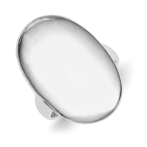 Ladies 925 Sterling Silver Polished Oval Signet Ring Size 6-8
