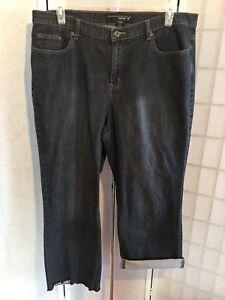81f3e59cf760a Lane Bryant Venezia Women s Plus Size 20T Dark Wash Blue Cropped ...